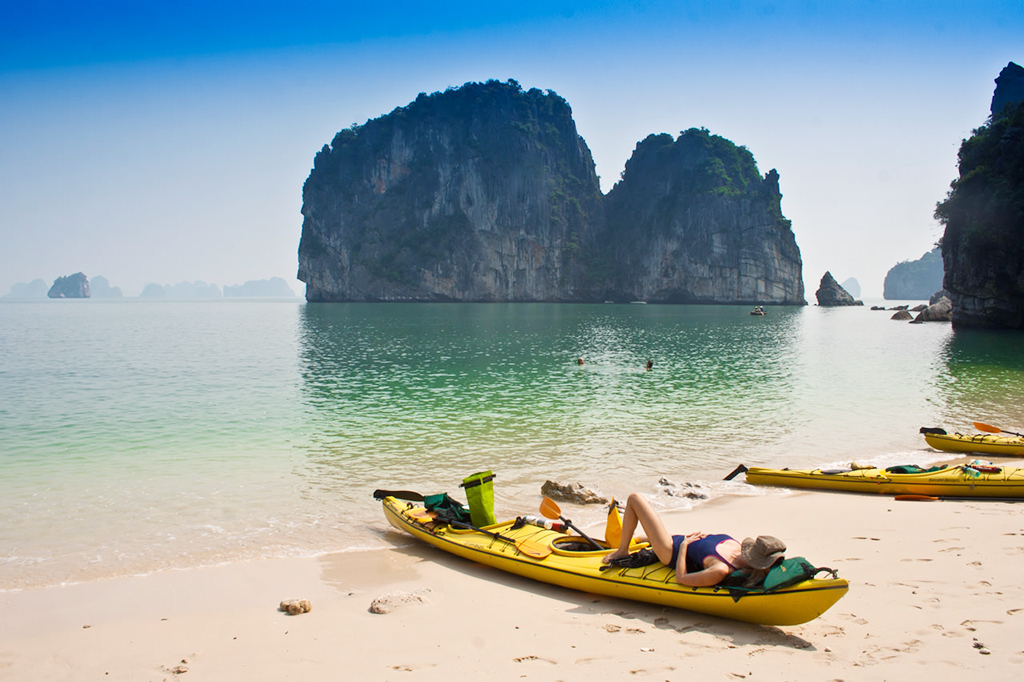 Kayak to secluded beach