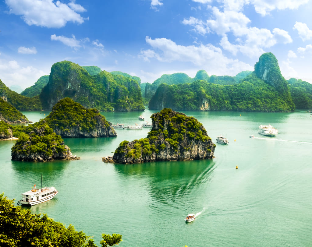 Halong Bay is at its best between October and December