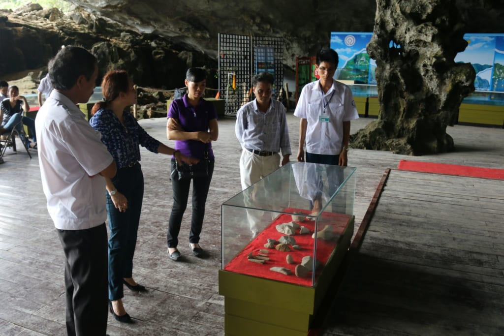 Archeological site at Tien Ong Cave